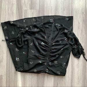Sam Edelman Foil Print V-Neck Dress